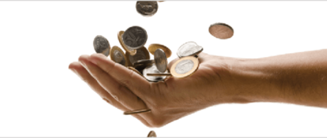 Coins falling into a hand | Data cost reduction | Vox ICT