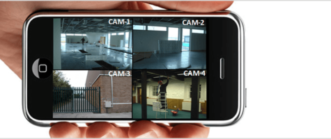 Phone with Security Camera feeds Image | Vox ICT
