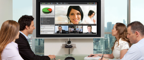 Meeting with Teleconference | People at table | Vox