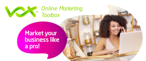 Vox Online Marketing Tool box | Lady on computer image